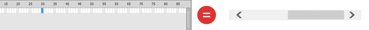 animation timeline and scrollbar